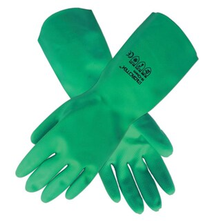Nitrile Rubber Gloves 15 ml. S Green Microtex Hi Chem Plus