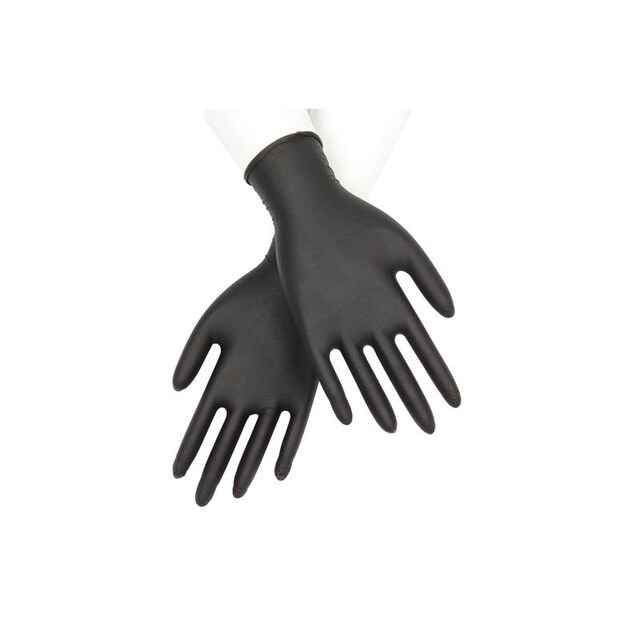 Microtex Nitrile Gloves 6 ml. L Black