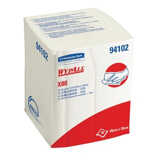 Industrial Wiping Paper White (70Sheets) Wypall X80 94102