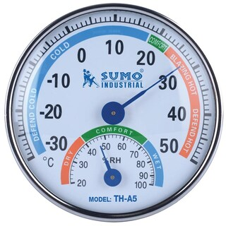 Temperature & Humidity Meter White TH-A5