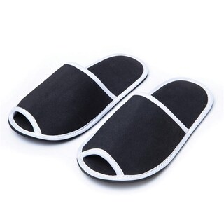 Slippers Foam Fabric Black T.P.P TPP019