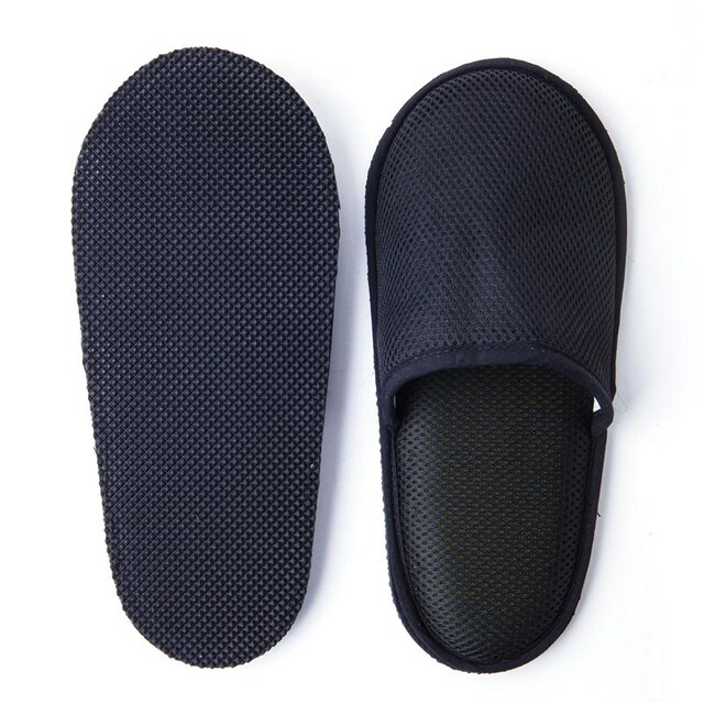 Slippers Sandwich Fabric Black T.P.P TPP014