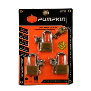 Padlock with Masterkey 40 mm.(3 Padlock) พัมคิน