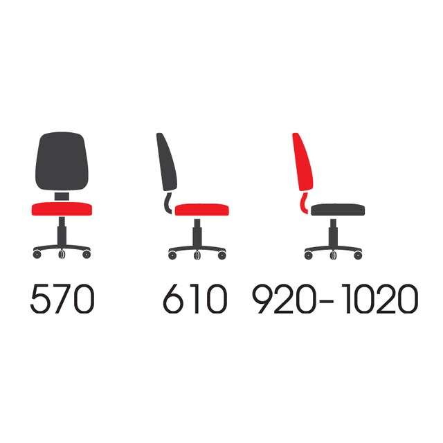Sure PL-138 Office Chair Red