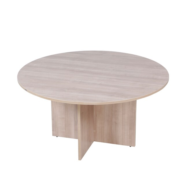 Furradec RST120 Round Meeting Table 5 Seats Light Oak