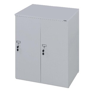 Furradec LK6210 Locker Cabinet 2 Doors Grey
