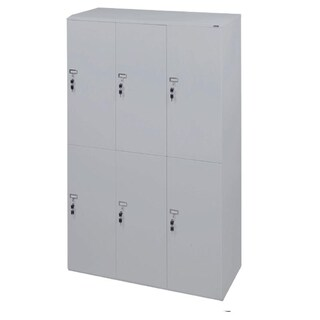 Furradec LK6620 Locker Cabinet 6 Doors Grey
