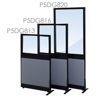 Furradec P5DG816 Partition Fabric+Glass Charcoal Grey