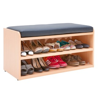 Furradec SCH945N Shoes Cabinet with Seat Cushion Beech