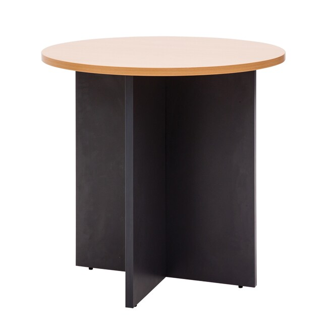 Furradec RST80 Meeting Table Circle Beech-Graphite