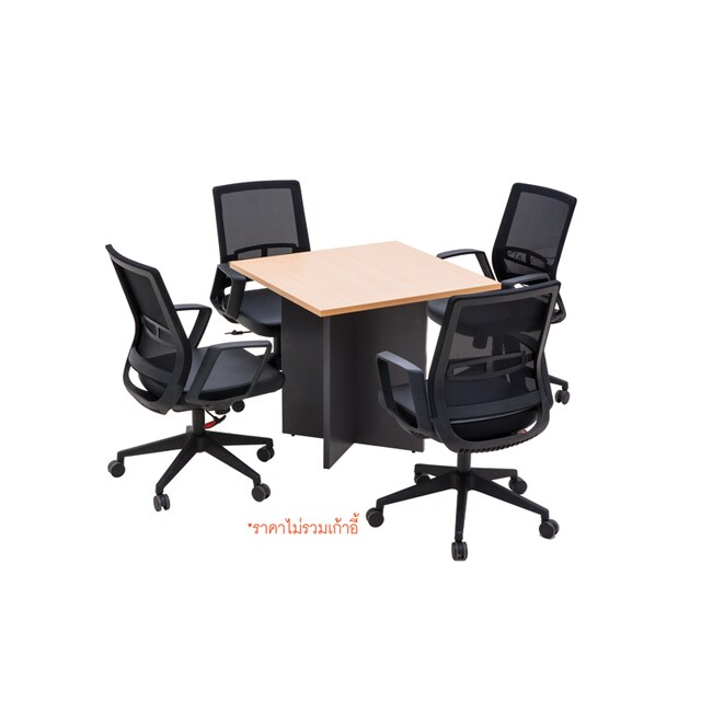 Furradec MT80 Meeting Table Square Beech-Graphite