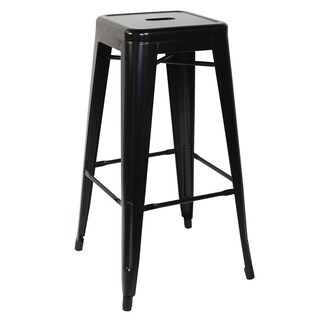 Metal Bar Stool Black U-RO DECOR ZANIA-L