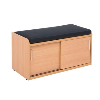 Furradec SCH945S Shoes Cabinet with Seat Cushion Maple
