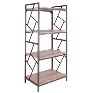 Furradec BS-1617 Book Shelf 4-Shelves Walnut