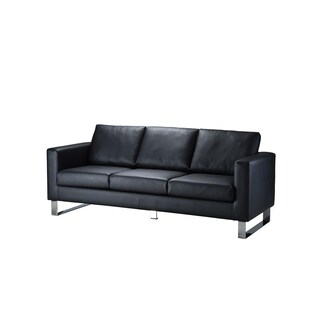 Furradec LEATHER3 PU Leather Sofa Black