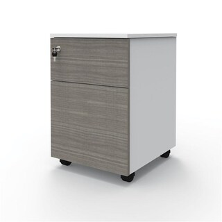 Mobile Pedestal White-Combi Grey OfficeIntrend MS-01