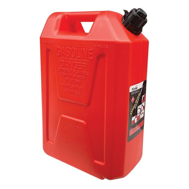 Red FONTE Fuel Can SFGT-20-01 Size 33 x 19 x 47.6 CM. Capacity 20 L.