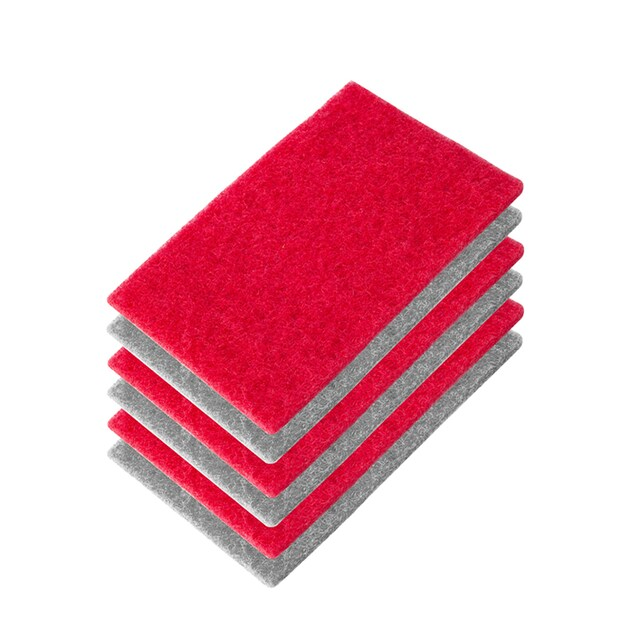 Red - Grey LIAO Scouring Pad H130032 Size 15 x 10 CM. (Pack 6 Pcs.)