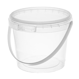 Round Plastic Container with Lid 450ml. (25/Pack) RW1681