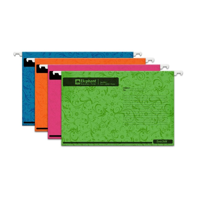 Hanging File Green (10/Pack) Elephant Fluo 927